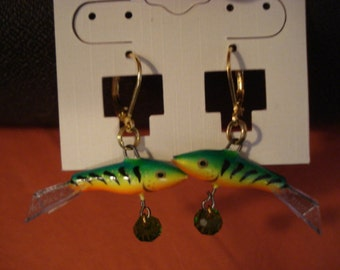 Rapala Jigging Rap Earrings Green