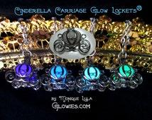Cinderella Carriage Glow Locket Pendant by Monique Lula