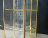 Octagonal Brass & Glass display for Miniatures and Collectibles