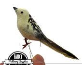 1 -  Small - Light Yellow - Craft Bird - Fake Bird - Artificial Bird -  Wren - Feathers - Millinery