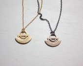 SALE // Vokte Pendant / Geometric Jewelry / Stainless steel jewelry / Brass jewelry / Simple Jewelry / Small Pendant