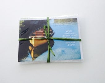 Set of 8 greeting cards -- with envelopes -- inside blank -- 5x7