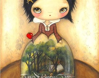 Snow White Print Fairy Tale Apple Children Wall Art--- Terrarium