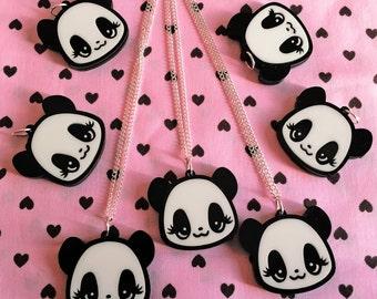 Miss Panda Acrylic Necklace