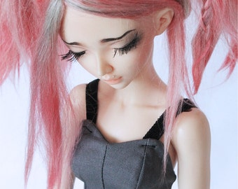 BJD MSD minifee clothes Grey Bodice corset bralet MonstroDesigns