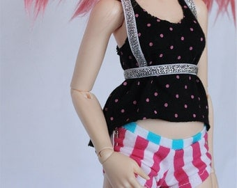 MSD Minifee BJD Doll clothes Silver Glitter fashion harness and garters MonstroDesigns