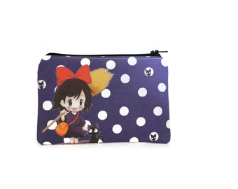Kiki's Delivery Service Cute Zipper Pouch / Jiji and Kiki Camera Bag / Miyazaki Wallet