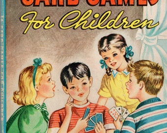 50 CARD GAMES For Children - 1946 Book Perfect for the Whole Family
