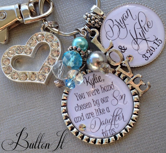 ... are like a daughter to us, bridal shower gift, Bridal bouquet charm