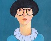 portrait  original painting on canvas
