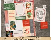 Route 25 oo1 | Vintage Christmas Paper Ephemera | Printable Collage Sheet