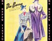 1930's Vintage Sewing Pattern Catalog Booklet DuBarry Prevue October, 1938 INSTANT DOWNLOAD