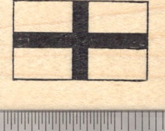 Flag of England Rubber Stamp, St George's Cross D24513 Wood Mounted