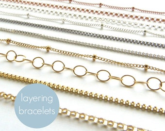 Perfect Layering Bracelets Simple Minimal Bracelets Modern Jewelry Stacking Bracelet Perfect Layering Bracelet Silver Gold or Rose Gold