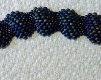 SUPPLY KIT ONLY-Reptilian Ripple Bracelet- Midnight Mamba colorway