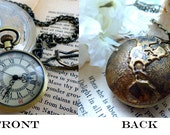 World Travel Watch Necklace - Unisex Pocket Watch for Him or Her