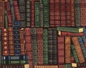 Books Library Timeless Treasures Fabric 1 yard