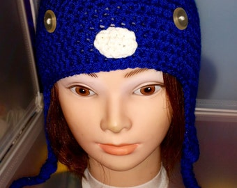 Crochet Earflap Beanie, Cosplay, Made to Order