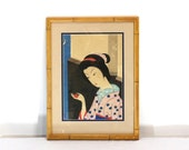 1800s Japanese Print, Very Fine Original Asian Art, Signed by the Artist