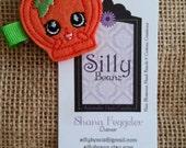 Shopkins Pumpkinella Pumpkin embroidered felt hair clip