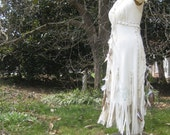 White Leather Wedding Dress Native American Inspired
