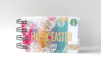 STARBUCKS Easter Notebook - Gift Card Covers front and back