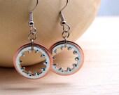 Steampunk Dangle Earrings Copper Hardware Jewelry Industrial Lightweight Earrings