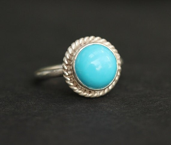 turquoise ring statement ring bezel set ring by studio1980