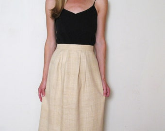 RAW SILK high waist skirt, xs-s