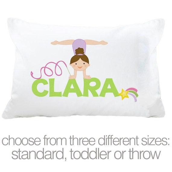 Personalized gymnastics girl STANDARD pillowcase by zoeysattic