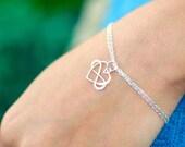Infinity heart bracelet, Friendship bracelet, sister gifts, Best friends, BFF, bridesmaid gift, sterling silver, briguysgirls, otis b