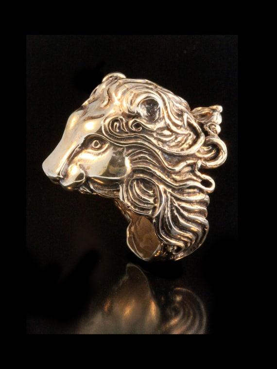 Lion Ring Bronze - Pride Lion Ring - Cecil Lion Jewelry - Large Ring - Animal Ring Animal Jewelry - Bronze Ring