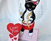 Cupid Cat - Desk Decor Paper Doll