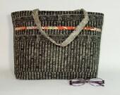 Shoulder Bag - Japanese Newspaper - Large Padded Shoulder Bag - Asian Purse - Japanese Tote (865)
