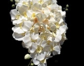 Ivory Cascading Orchid Bridal Bouquet