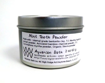 Mint Tooth Powder- A Natural Tooth paste Alternative - Family Sized Jar