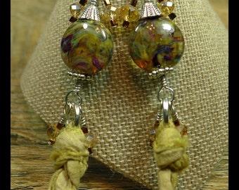 BirdDesigns Handmade Lampwork Earrings - ooak - J760