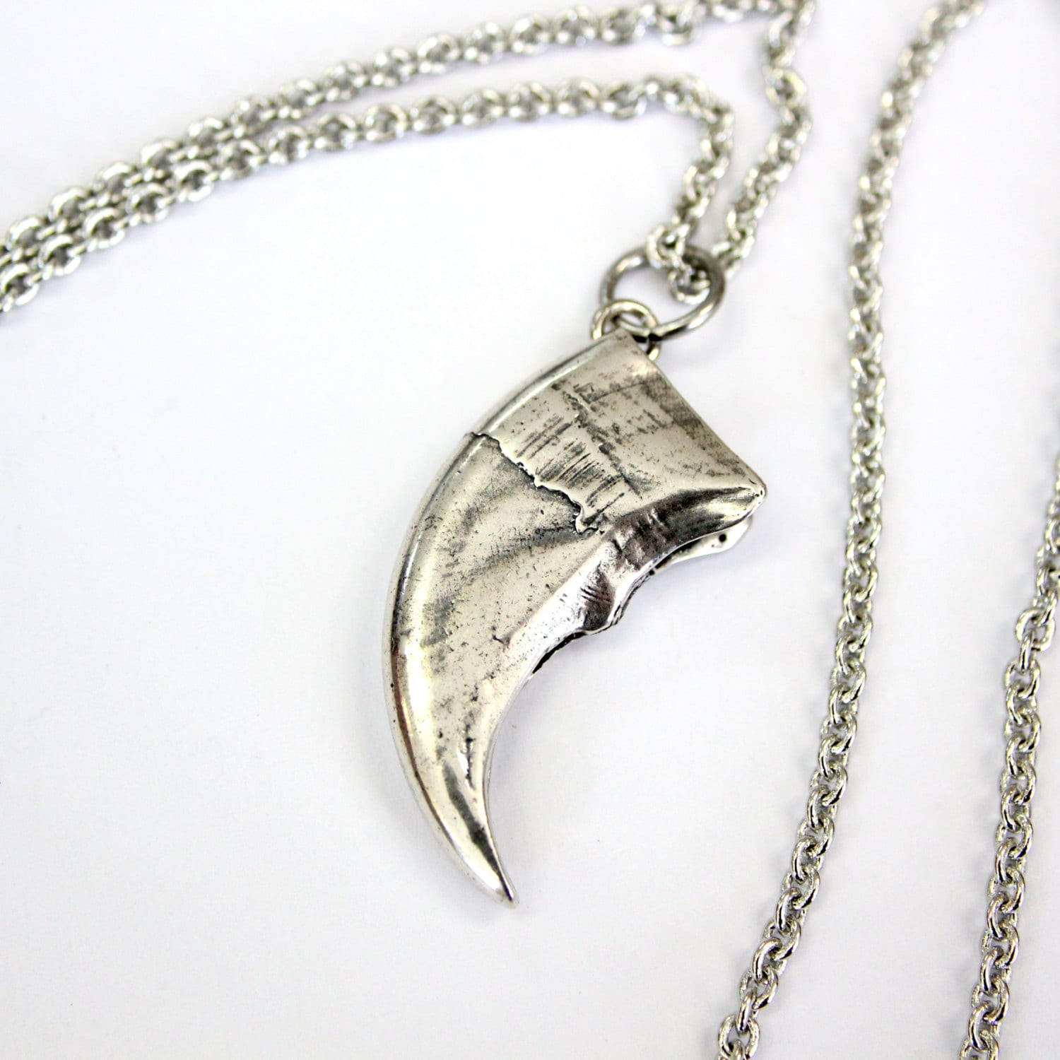 Bear Claw Necklace Silver Bear Claw Pendant Necklace Black
