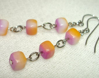 Tequila Sunrise Triplets Earrings - Free Shipping within the U.S.