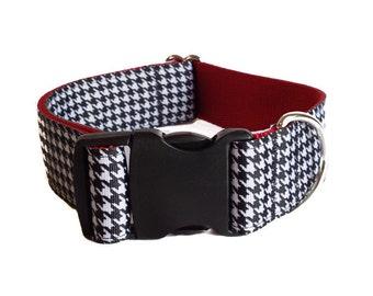 "Houndstooth Wide Dog Collar 1.5"" Dog Collar"