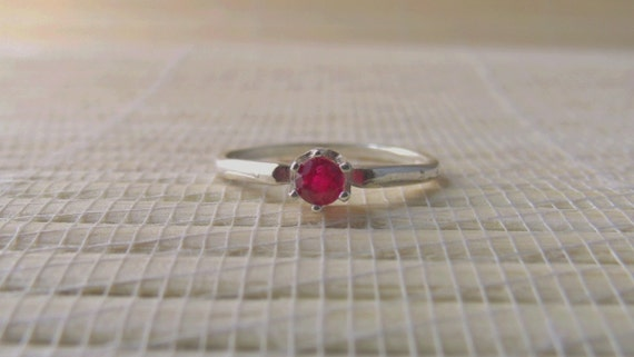 Ruby Ring Genuine Sterling Silver July Birthstone Ready to ship size 7 On sale