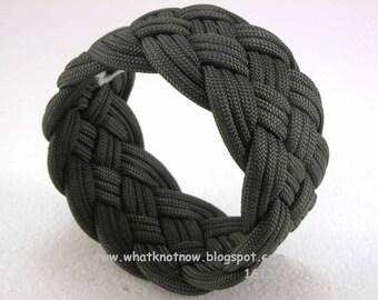 five part paracord rope bracelet olive drab turks head knot rope bracelet armband cuff bracelet 2458