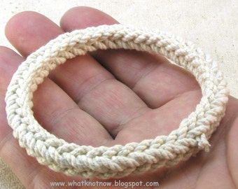 chunky square rope bracelet sennet braid cotton bracelet rope jewelry grommet stackable bracelet 3326
