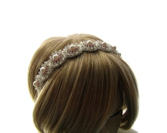 Wedding Swarovski  Pearl Headband