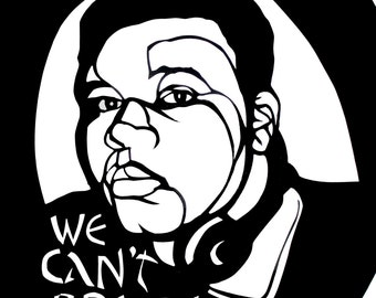 WE CAN'T BREATHE series - Michael Brown Commemorative Card -  Pay It Forward