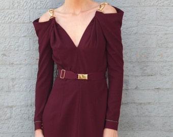 Arabelle Long Sleeve Purple Dress