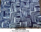 Knit Baby Blanket Pattern, knit blanket pattern, knit baby afghan pattern, knit mitre square pattern, unique baby blanket pattern