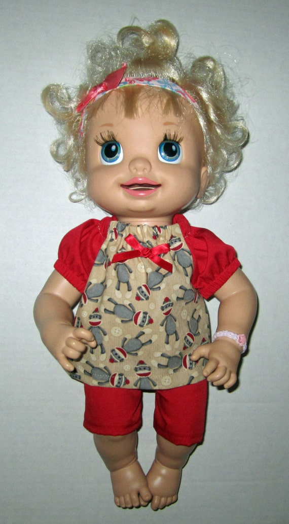 Super Snackin Sara Real Baby Alive Doll Clothes Sock