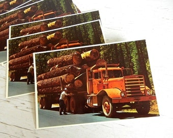 Oregon Postcards | Timber | Pacific Northwest | Vintage Truck | Lumber & Lumberjack | PNW Forest