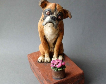 Custom Ceramic Pet Sculpture or Memorial Urn-- DEPOSIT (--please convo before purchase--)